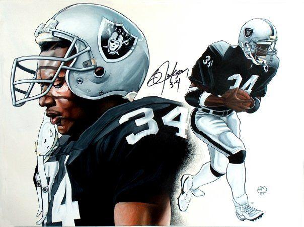 Bo Jackson Bo Jackson Oakland Raiders Football Oakland Raiders