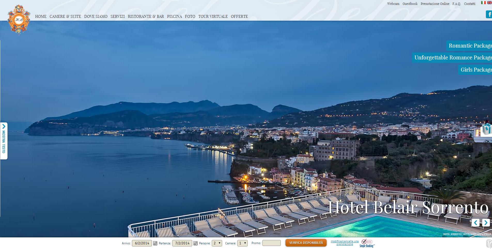 www.belair.it/ - Luxury Hotel in Sorrento, overlooking the stunning Sorrento Coast.