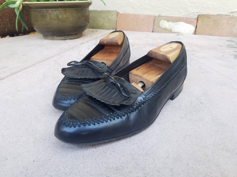 Men's Classic Retro Dress Slip-On Loafers Men Leather Oxfords Shoes
