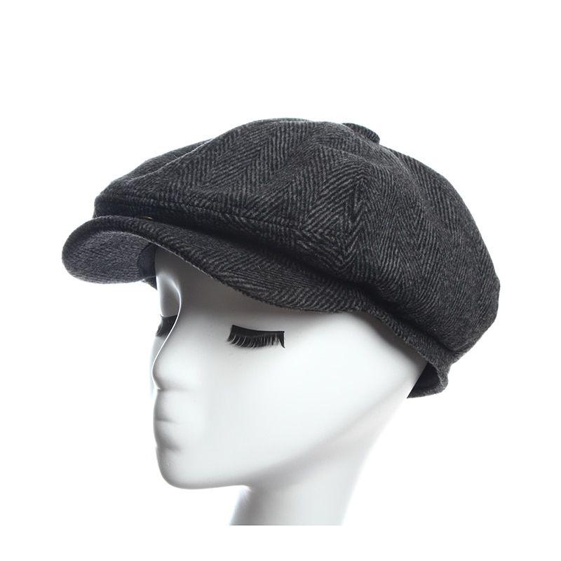 ec640d29 Newsboy Caps Herringbone Tweed Warm Winter Octagonal Hat Male Female Gatsby  Retro Flat Caps Hats for