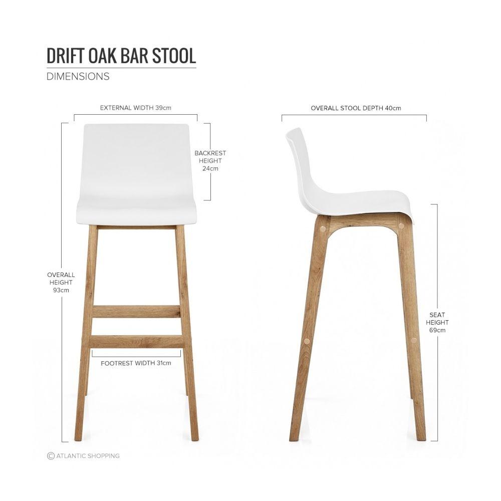 Tabouret de bar résine bois drift chaise de ba de cuisine