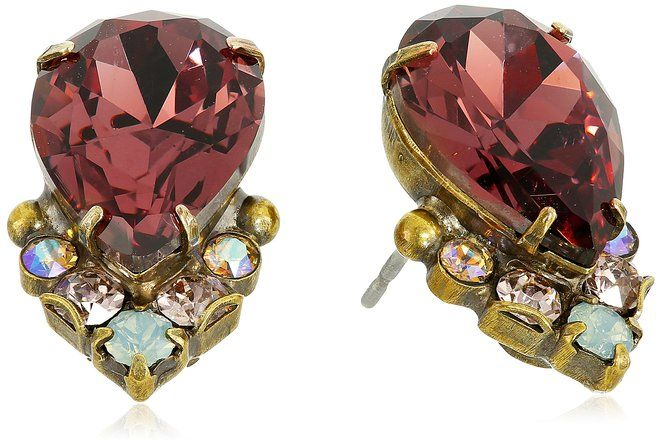 Sorrelli  Sangria Crystal Teardrop and Cluster Earrings www.teelieturner.com Sorrelli was founded in 1983 by Italian-American Lisa Oswald. $52.00 #sparkle