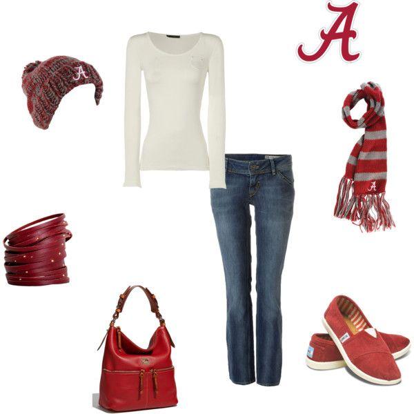 Alabama Crimson Tide Gameday Outfit Football Fashion Clothes