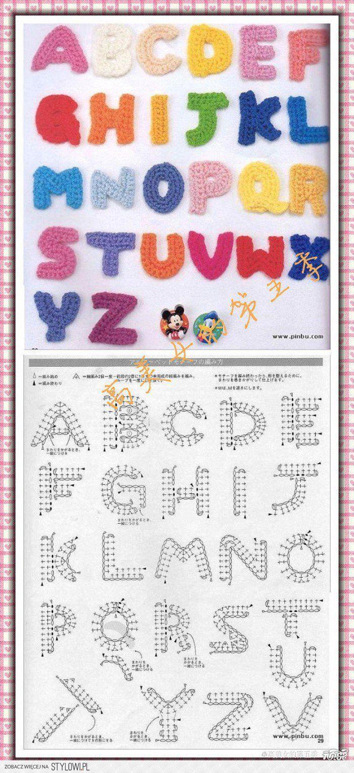 Alfabet haken kleine letter a tot z Door eagletje62   crochet ...