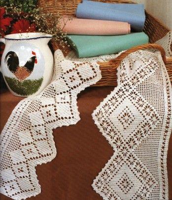 Bordures de finition | Bordure en dentelle au crochet ...