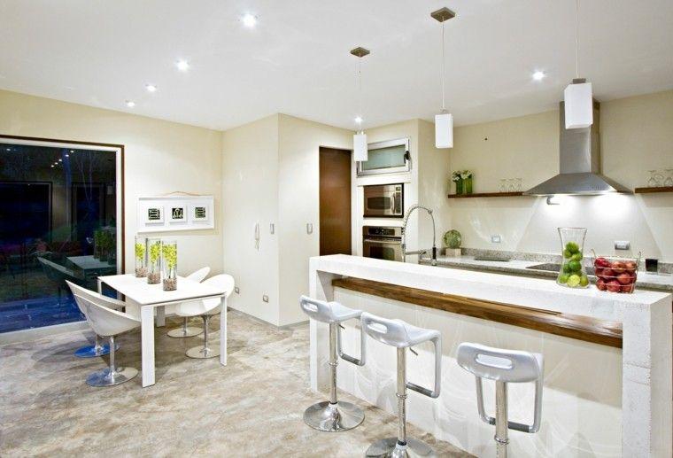 cocina estilo futurista color blanco   interiores para cocina
