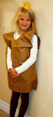Paper Bag Princess Costume #paperbagprincesscostume Paper Bag Princess Costume #paperbagprincesscostume