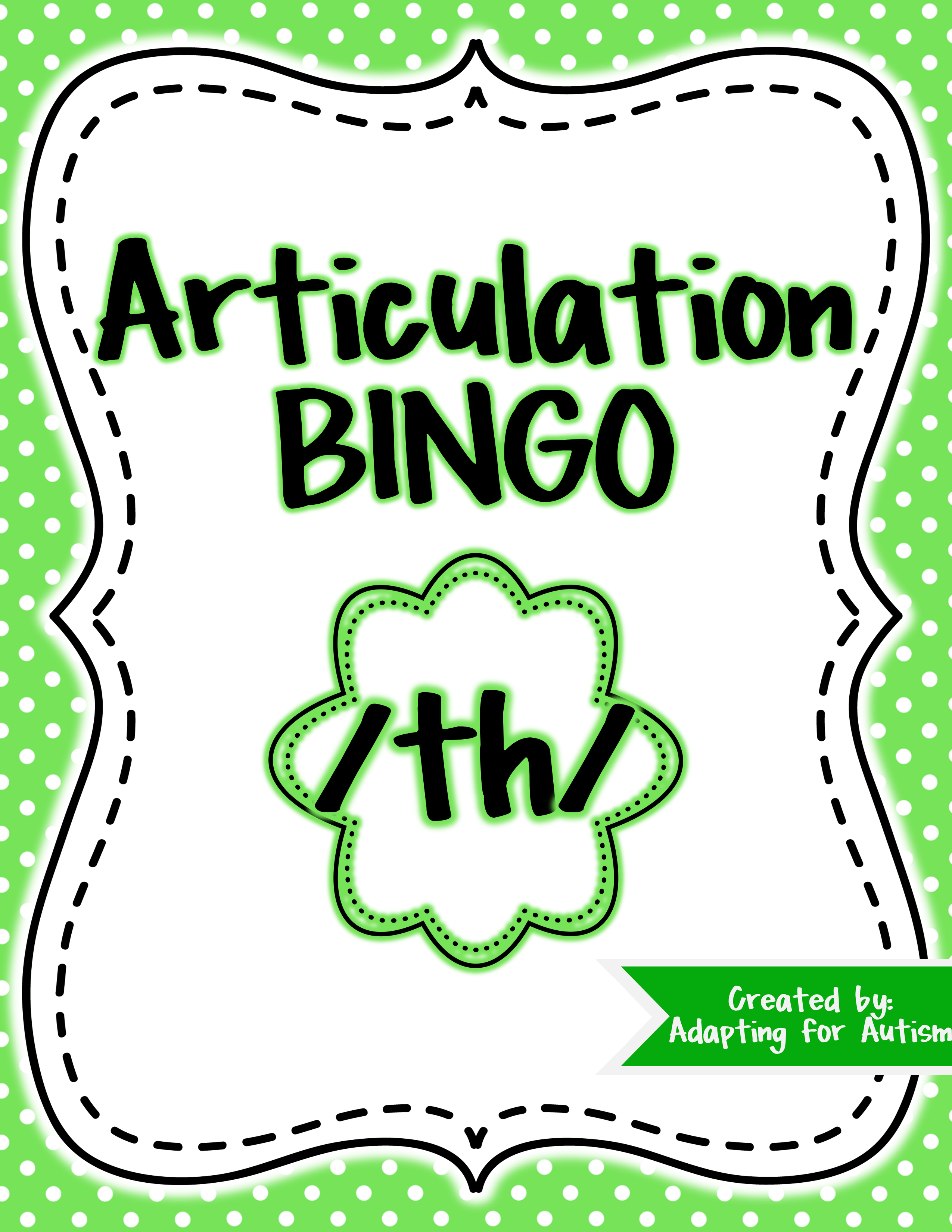 Articulation Game Th Bingo For Speech Therapy