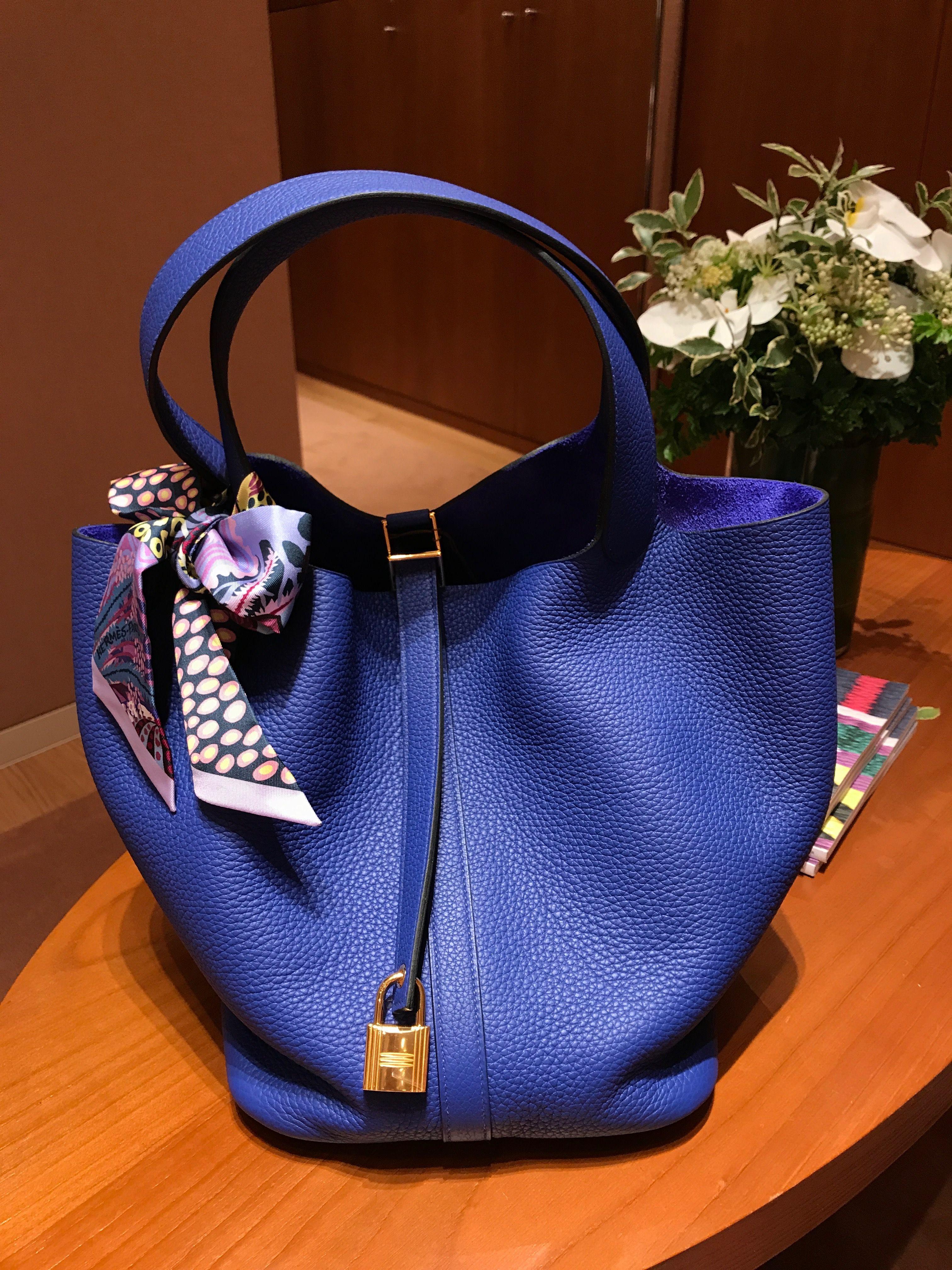 b96a1e2bfd5b Hermès Picotin Lock 26 Bleu Electrique