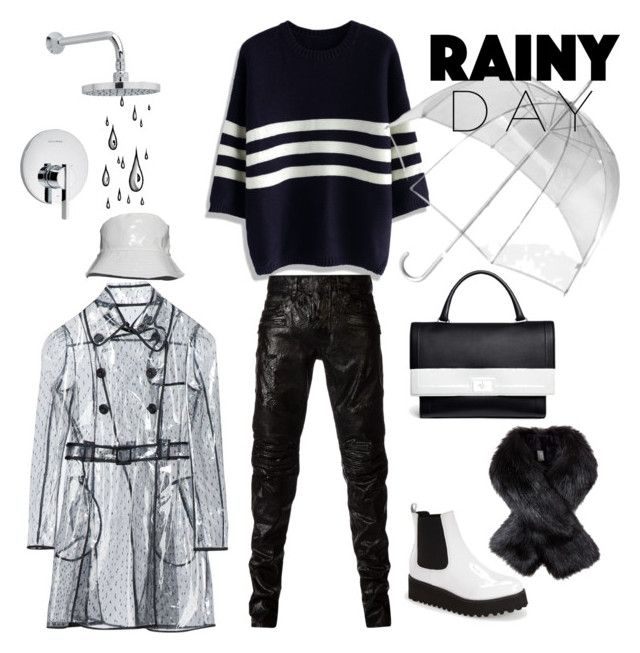 Rainy Day by valentina-delia on Polyvore featuring polyvore, fashion, style, Chicwish, Jeffrey Campbell, RED Valentino, Balmain, Givenchy, Totes and American Standard