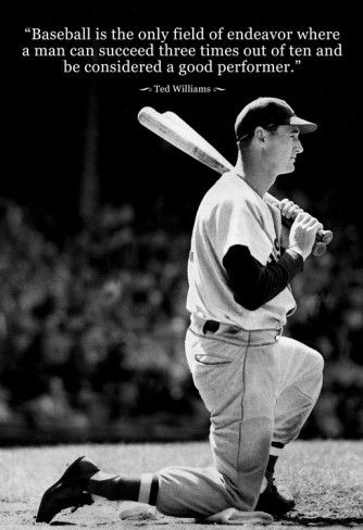 Famous Baseball Quotes Ted Williams Baseball Famous Quote Archival Photo Poster  Famous Baseball Quotes