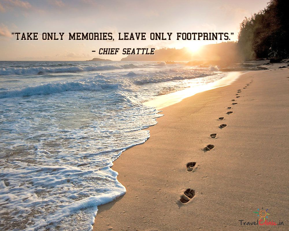 Take only memories leave only footprints chief seattle