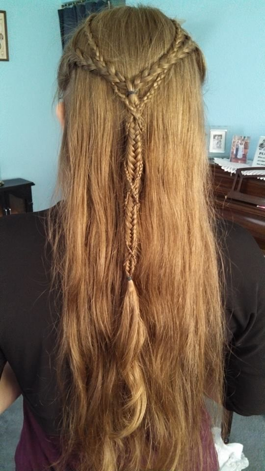 Elvish Braids Viking Hair Medieval Hairstyles Renaissance Hairstyles