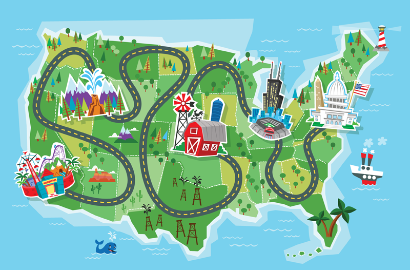 Cartoon Road Map Clipart #1 | Camp! | Road trip theme ... on map symbols, map icons, map logos, map cartoons, traffic art, map of continents, map of texas,