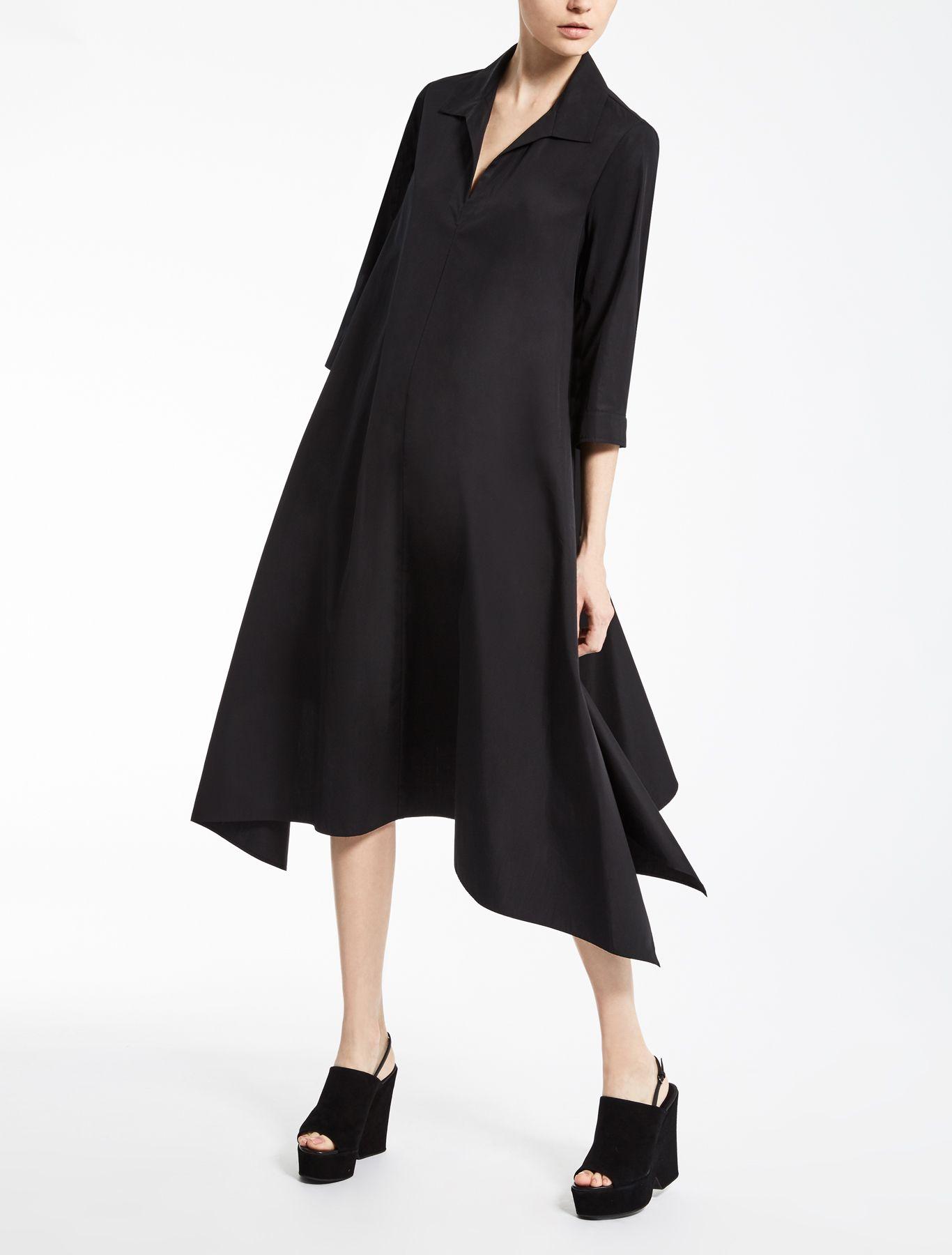 Max Mara Liriche Black Cotton Poplin Dress Cotton Poplin Dress Dresses Cotton Poplin [ 1800 x 1366 Pixel ]