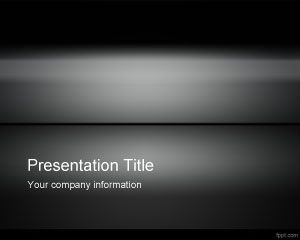 free dark iron #powerpoint #template with gradient and dark color, Modern powerpoint