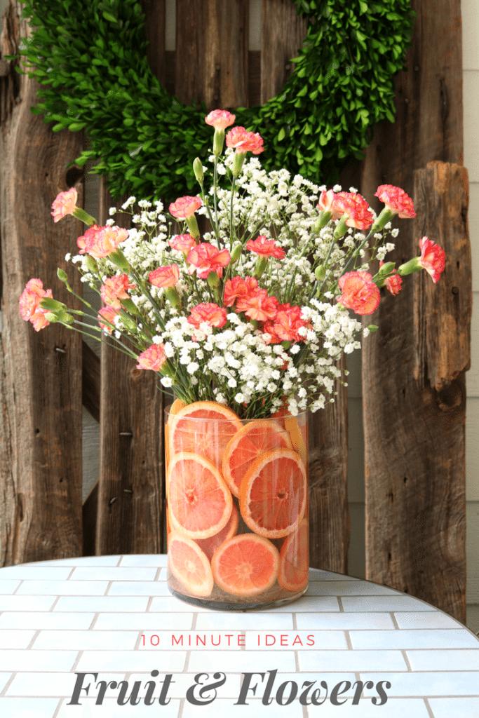 DIY Fruit & Floral Arrangement | Floral arrangement, Floral and ...