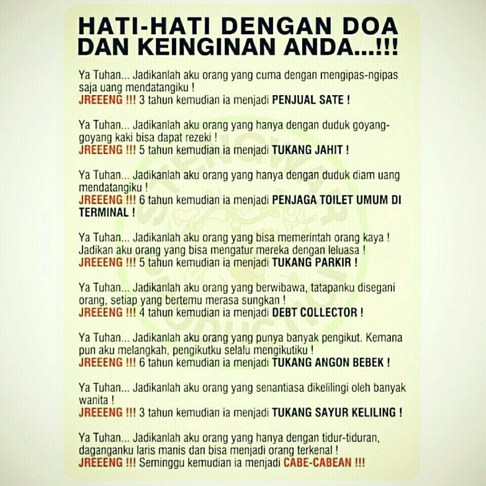 Hati Hati Dengan Doa Lucu Lucuan Bahasa Indonesia Pinterest