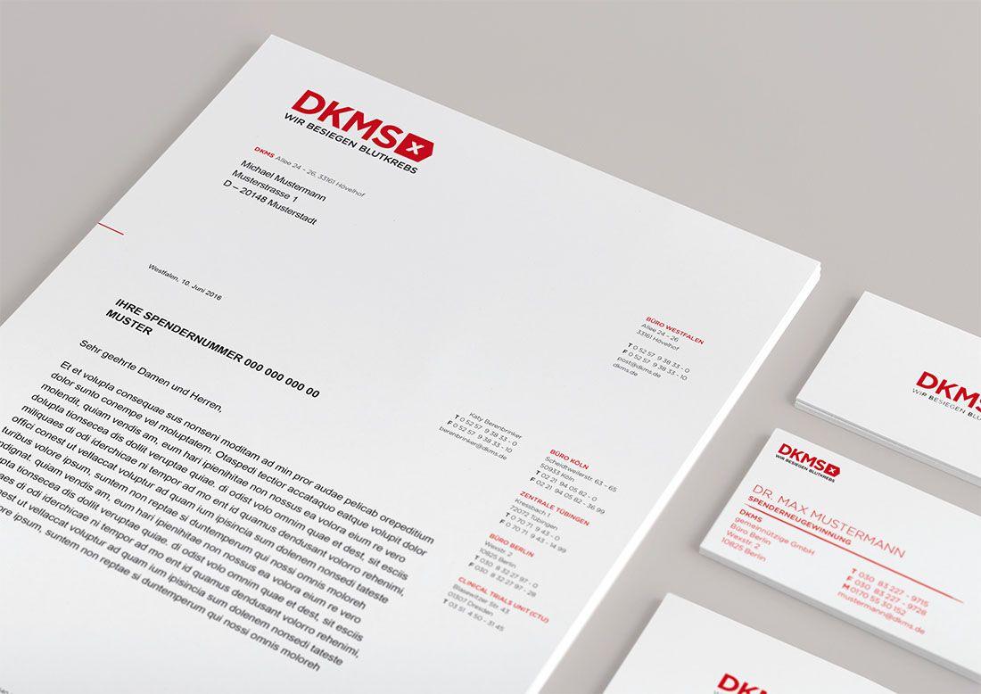 Dkms Corporate Design Corporate Design Briefpapier Design