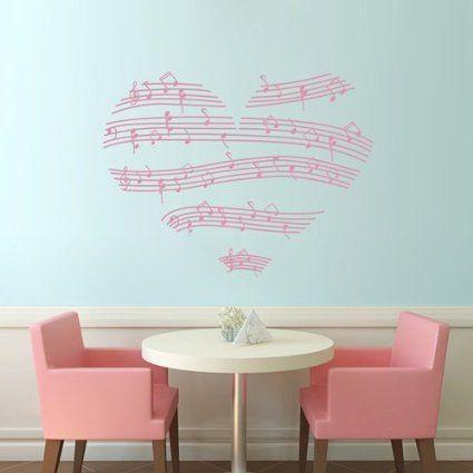 TGSIK DIY Love Heart Shape Wall Decals