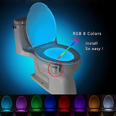 Brelongmicareactivatwcveiozaconduswcluminabaiewashroom new fashion creative human motion sensors 8 color change led flash light lamp home gadget floodlight improvement automatic closestool seat night light aloadofball Choice Image