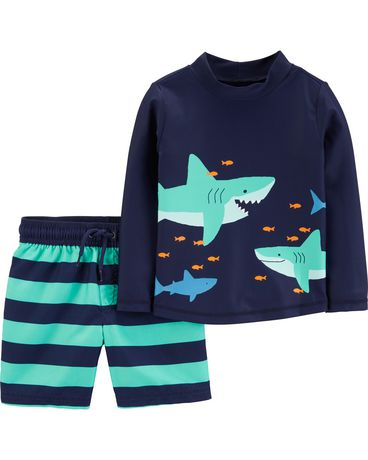 BRAND NEW Shirt Baby Boy 12-18 Months Navy Blue Shark Print Long Sleeve