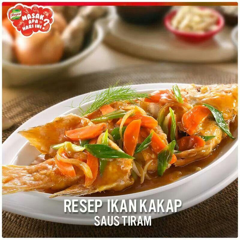 Recipe Ikan Kakap Saus Tiram By Royco Resep Masakan Masakan Resep Ikan