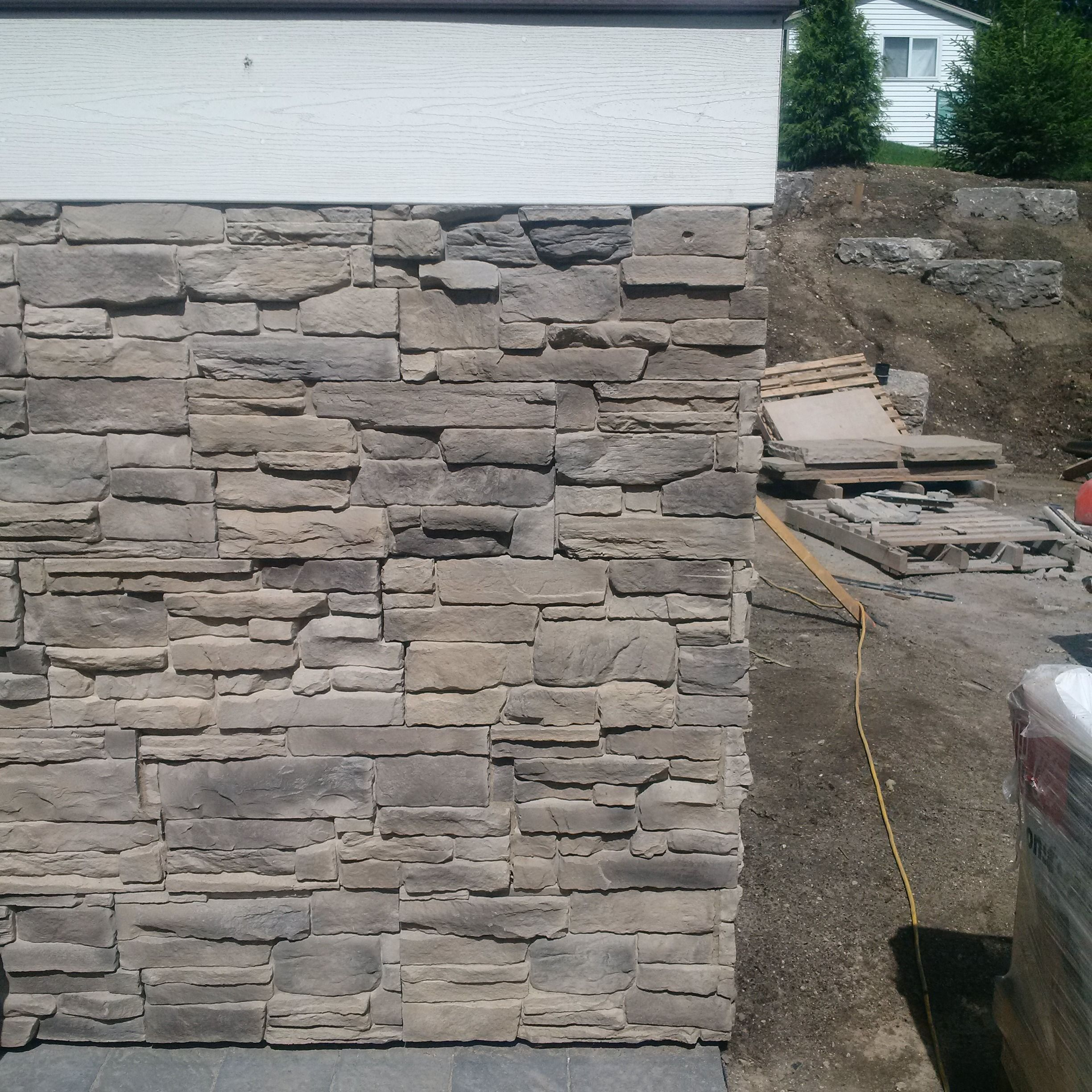 The Source Flooring Kitchener Hours Be On Stone Veneer By Permacon Canyon Style In Carbo Grey Sold
