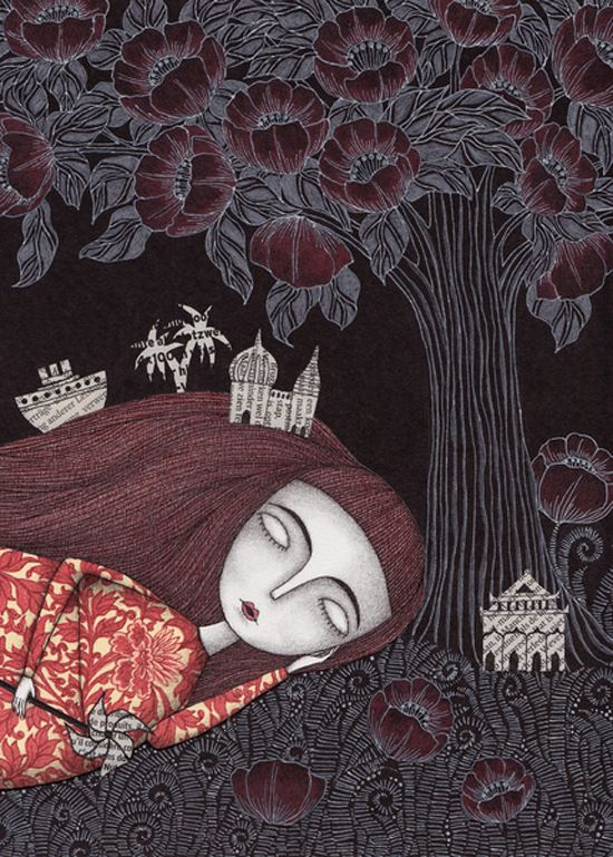 Dream Space Tree of Forever Dreams - Illustrations by Judith Clay <3 !