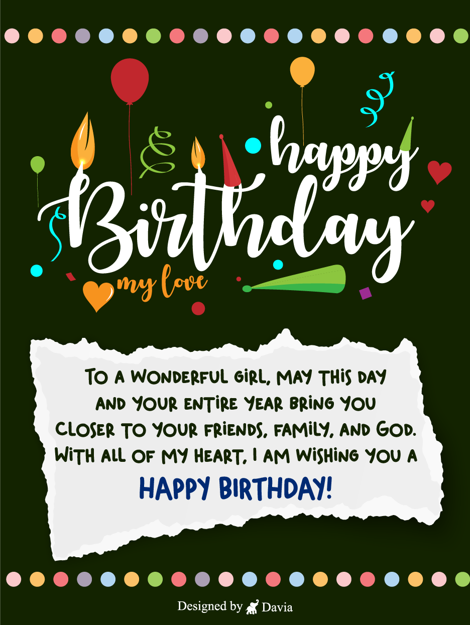Happy Birthday For Her Cards Birthday Greeting Cards By Davia In 2021 Birthday Cards For Her Happy Birthday Love Birthday Greeting Cards