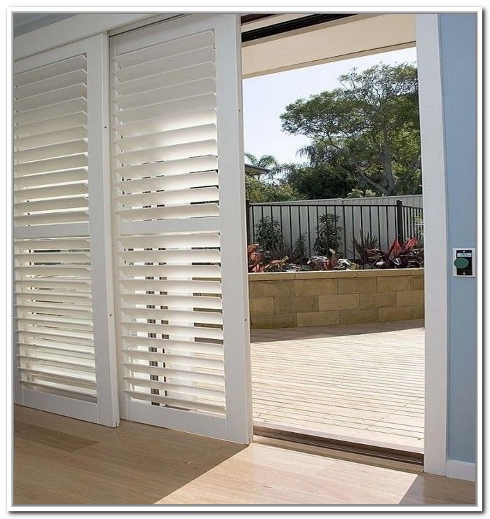 Bypass Plantation Shutters For Sliding Glass Doors