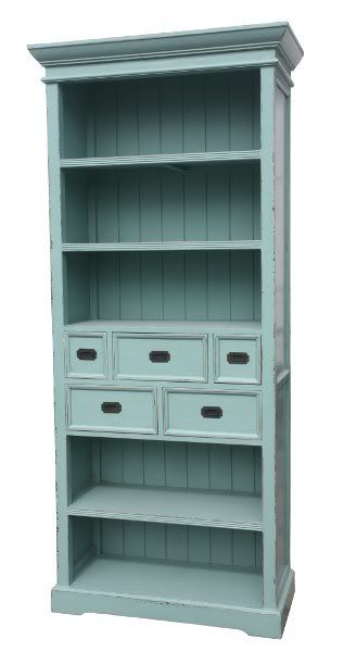Shabby Chic Blue Kitchen Dresser French Furniture Ebay I Could Do This To The Dining Room Book Cases Add Moulding Top Bottom Custom Fit Small