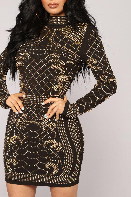 Brightest Gem Dress Black Bandage Dress Black Studded Dress Black Studded Dress [ 1500 x 1000 Pixel ]