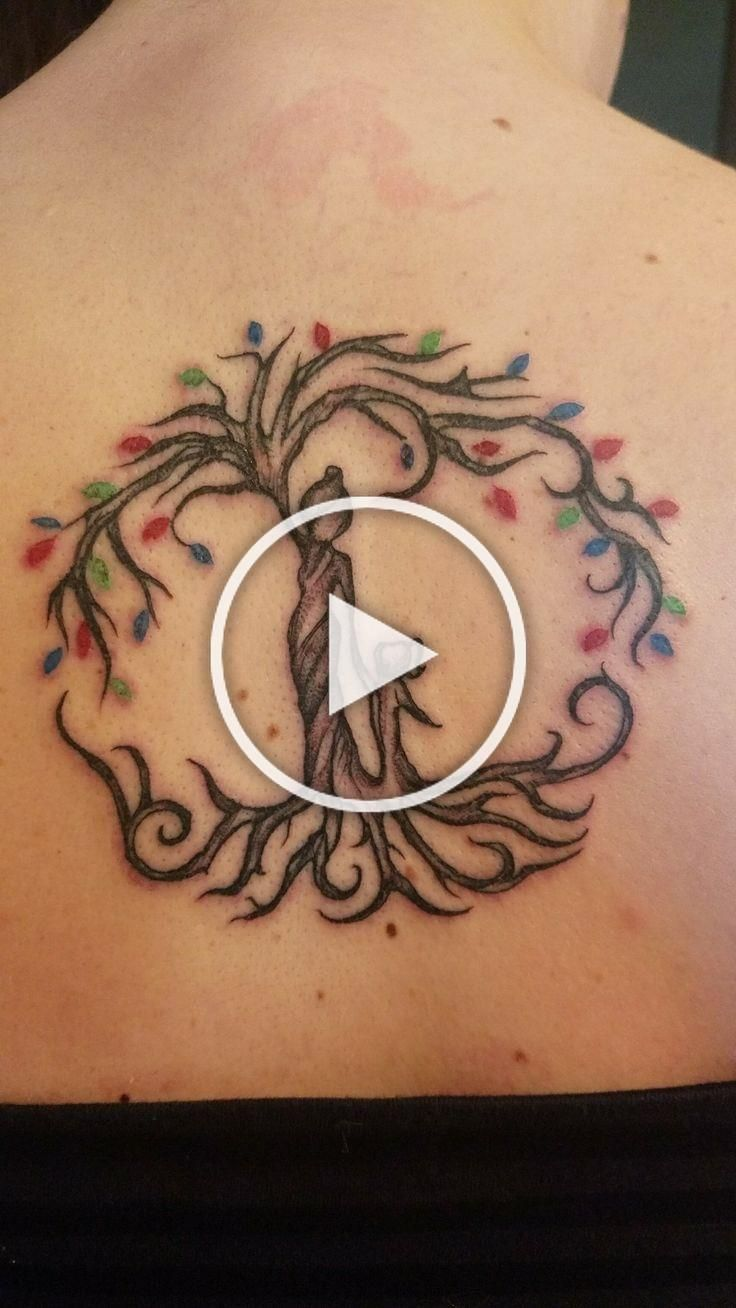 Best Meaningful Tattoos – My mother daughter tattoo. We both got this with the leaves coloring being our k…
