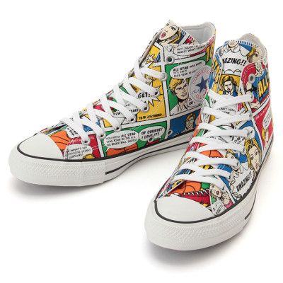 fa063d1c1383 Converse All Star 100th Anniversary Chuck Taylor AMERICAN COMIC HI Limited  Model Multi Color JAPAN 2017