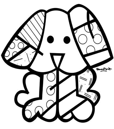 Romero Britto Para Pintar Sketch Coloring Page Proyectos De Arte Para Niños Romero Britto Britto