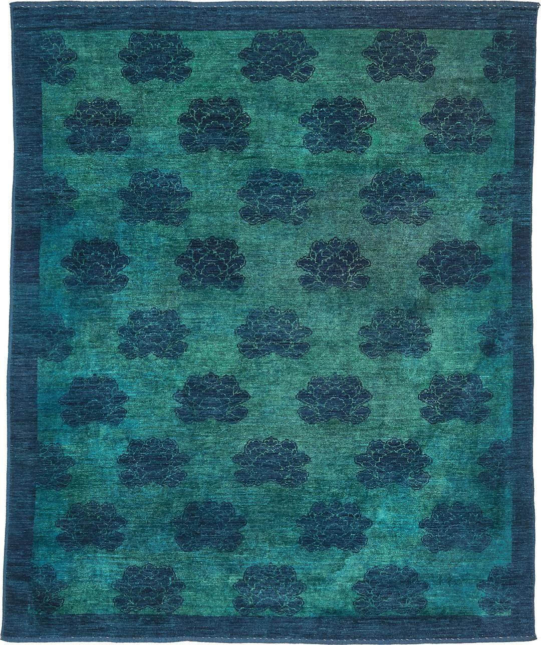 Teal 7' 7 x 9' 4 Darya Rug | Oriental Rugs | eSaleRugs