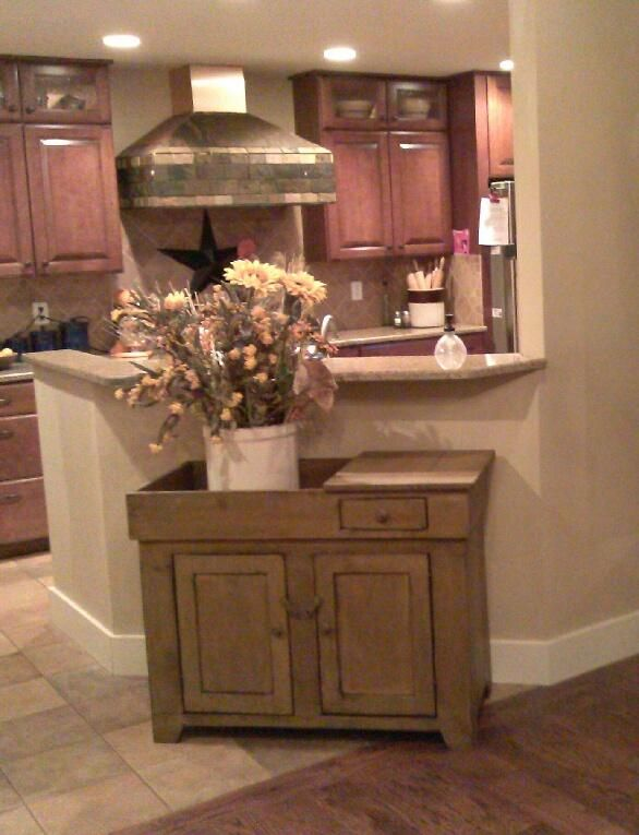 Our dry sink done in mustard at a very happy customers house!!!! Can ...