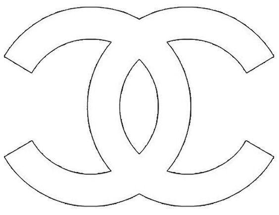 Chanel Logo Stencil Sketch Coloring Page Ricamo Di Perline Idee