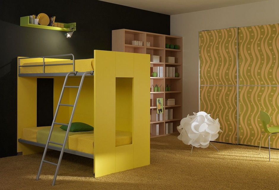 Amazing Bright Yellow Kids Room Ideas Bright