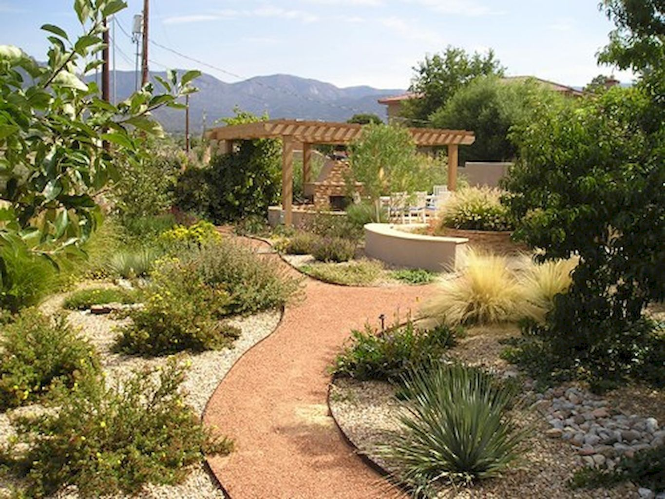 Gorgeous 50 Simple Low Maintenance Front Yard Landscaping ... on Small Backyard Desert Landscaping Ideas id=26454