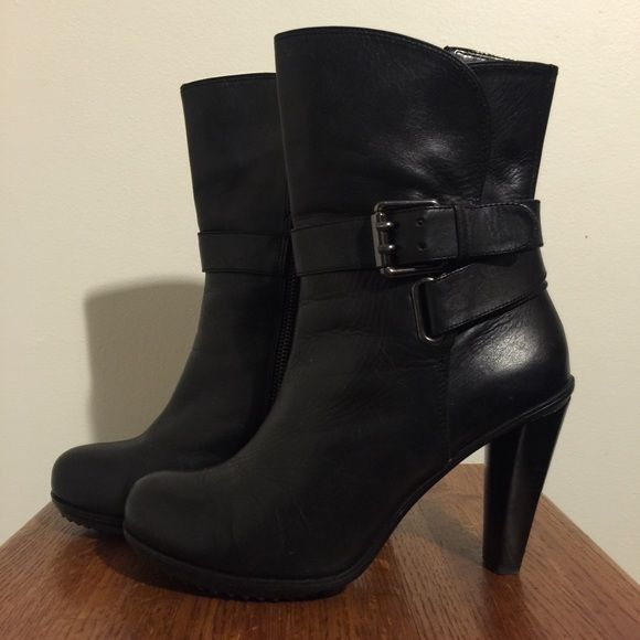 DKNY Booties DKNY Booties. Black with Silver detailing. Adjustable buckle. Size 8. DKNY Shoes Ankle Boots & Booties