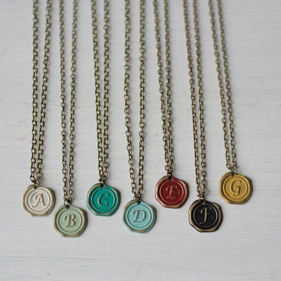 Express Yourself Initial Necklace A through G by gleefulpeacock, $18.00!