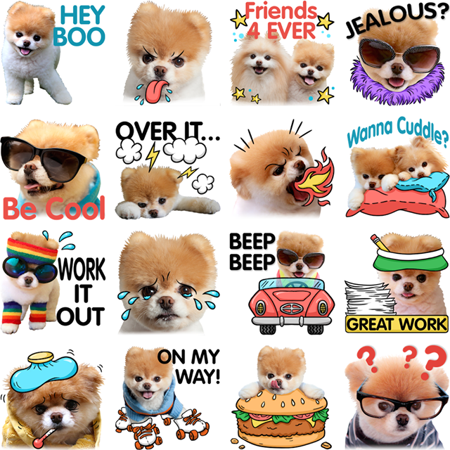 Boo and Buddy Facebook Sticker by Buddy Boo, Inc. for Facebook Messenger.  Paw