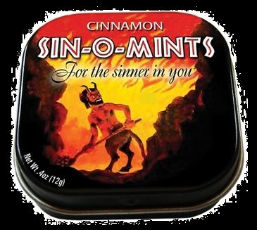 halloween sin o mints cinnamon mint candy yup they went there and we love them for it you will too tophalloweencandycom