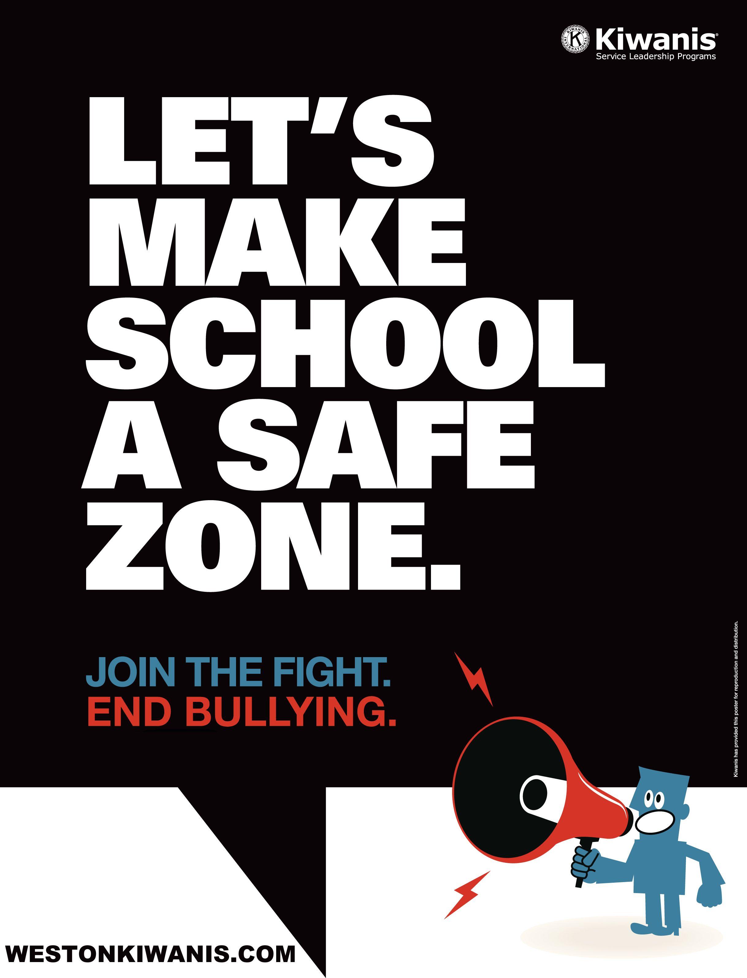 Let's make school a safe zone. School safety, Make