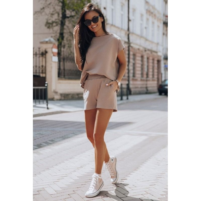 Kawowy Dres Damski Fashion Mini Skirts Sweater Dress
