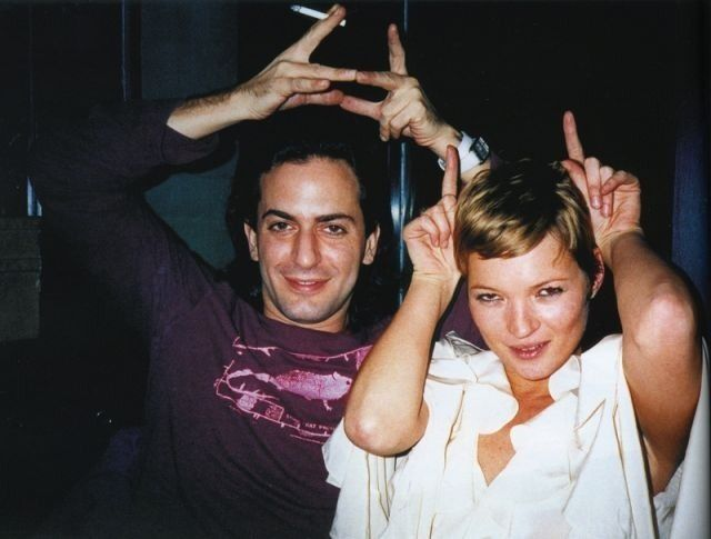 Marc Jacobs and Kate moss.