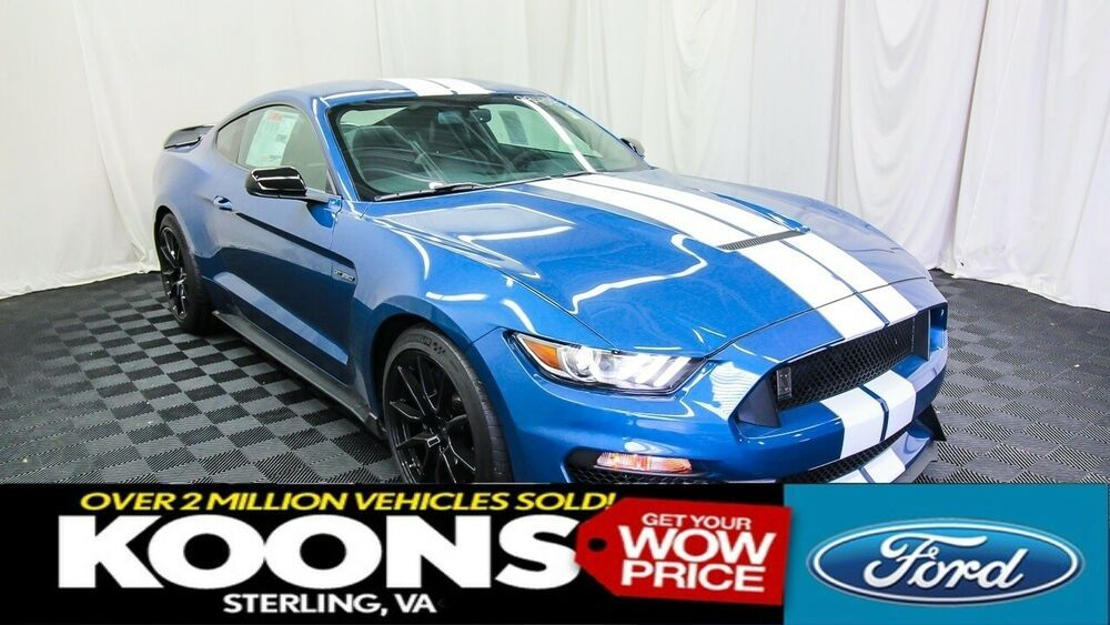 2019 Ford Mustang Shelby Gt350 Performance Blue W White Stripes