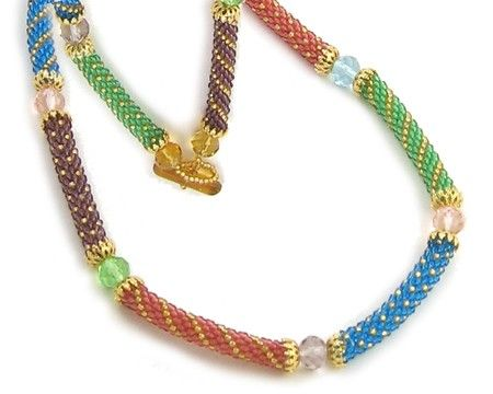 Lorraine Bead Crochet Necklace